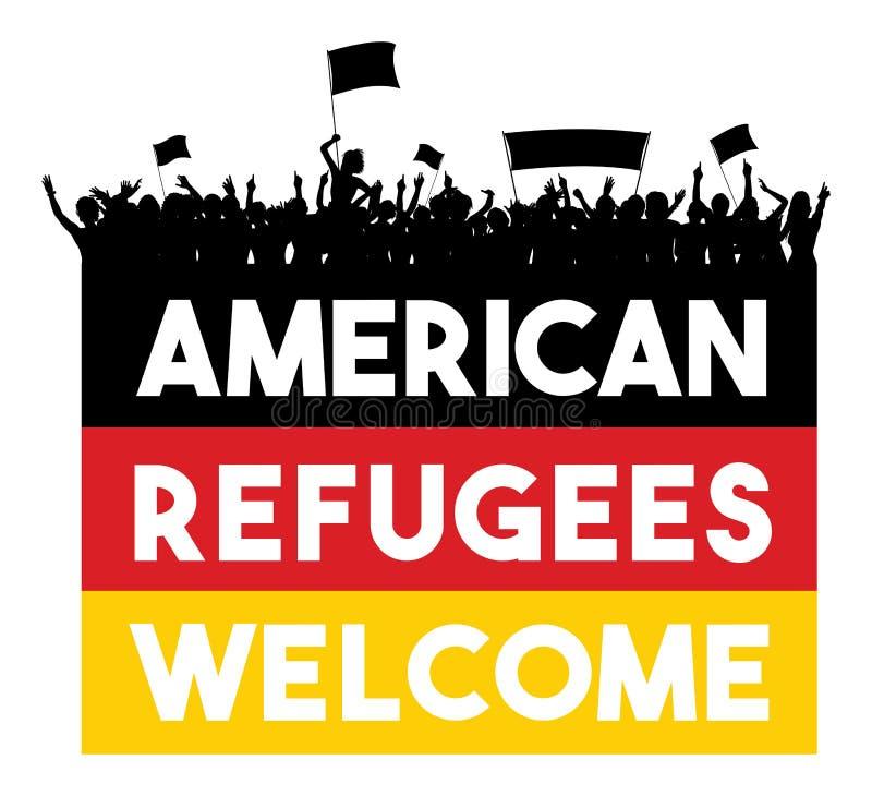 Recepción americana de los refugiados libre illustration