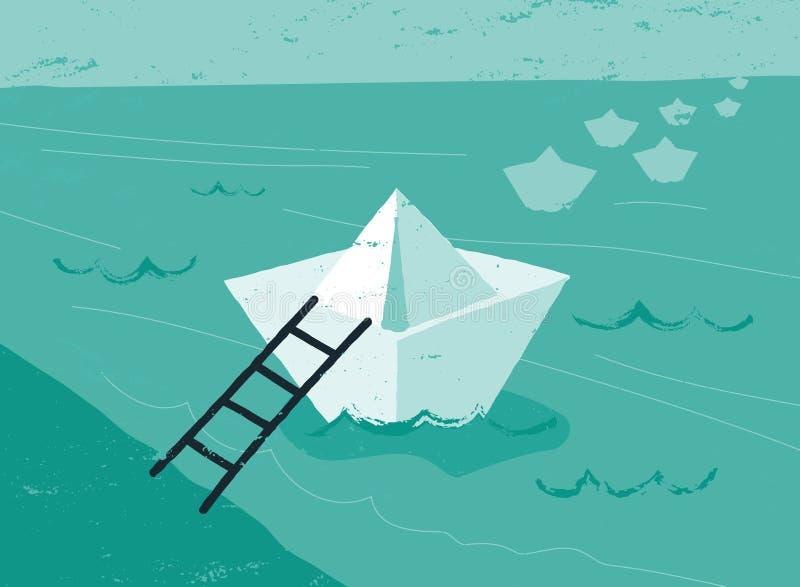 Recepción a bordo libre illustration
