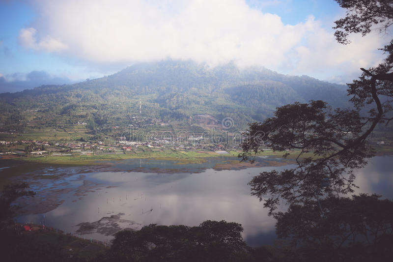 Recepción a Buyan, Bali, Indonesia imágenes de archivo libres de regalías