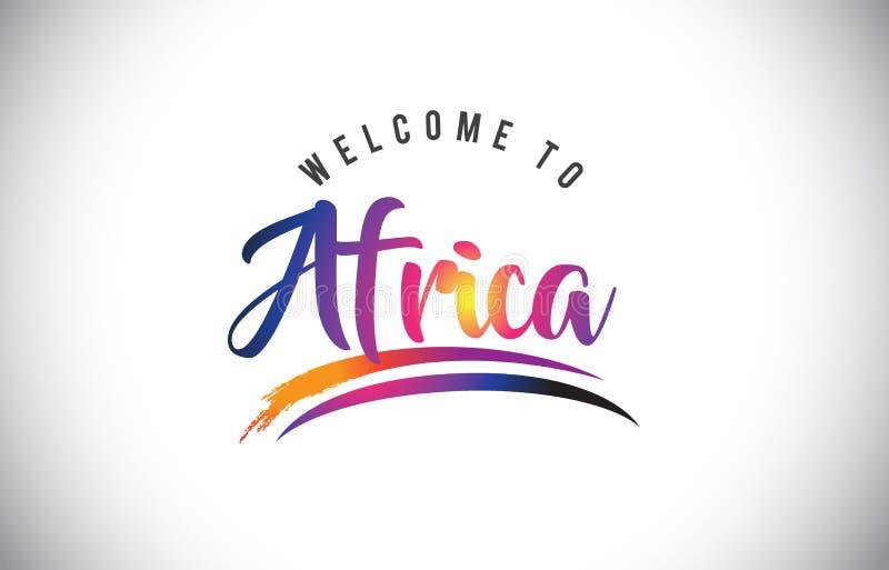 Recepción de África al mensaje en colores modernos vibrantes púrpuras libre illustration