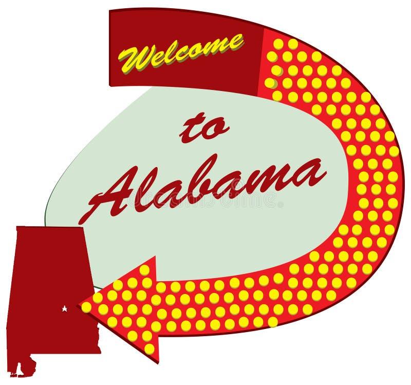 Recepción de la señal de tráfico a Alabama libre illustration