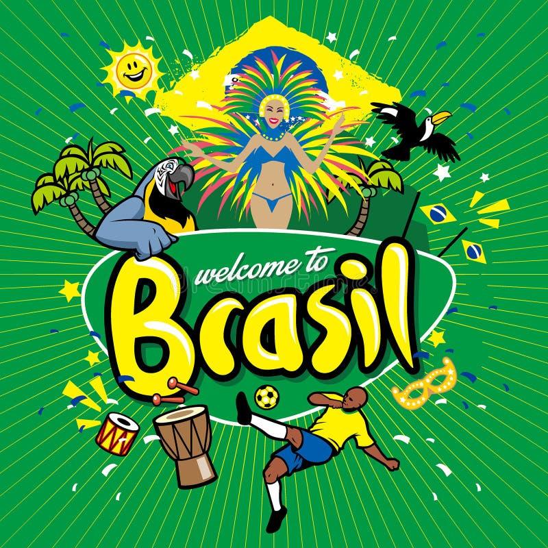 Recepción de la serie del saludo al Brasil stock de ilustración