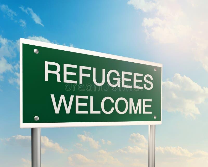 Recepción de los refugiados ilustración del vector