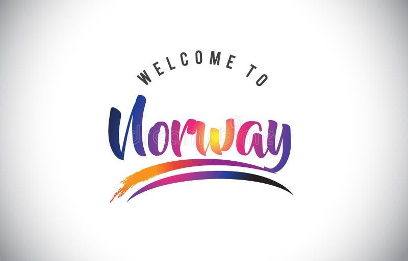 Recepción de Noruega al mensaje en colores modernos vibrantes púrpuras libre illustration
