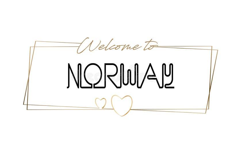 Recepción de Noruega para mandar un SMS a la tipografía que pone letras de neón Palabra para el logotipo, insignia, icono, postal libre illustration