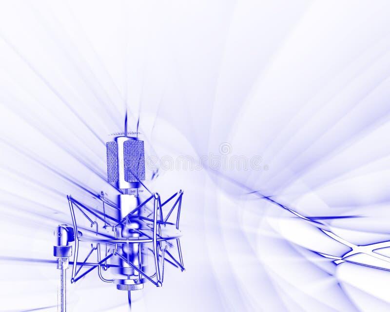 Recepción de ondas acústicas ilustración del vector