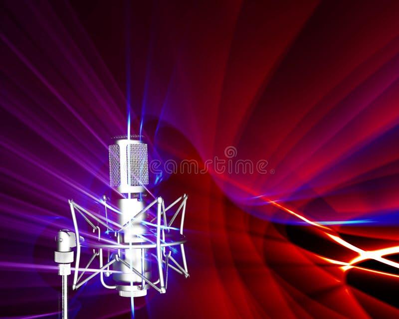Recepción de ondas acústicas stock de ilustración