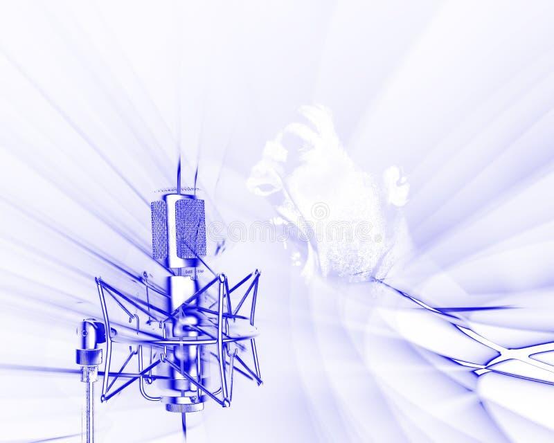 Recepción de ondas acústicas con tra stock de ilustración