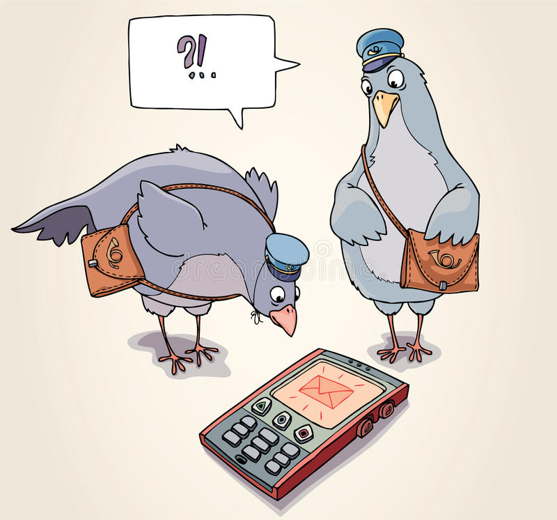 Recepción del SMS stock de ilustración