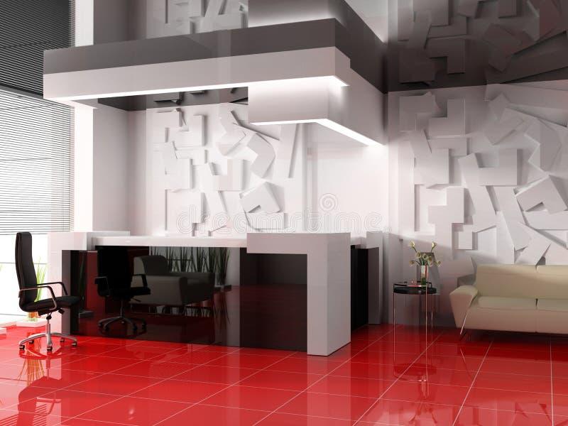 Recepción en hotel moderno ilustración del vector