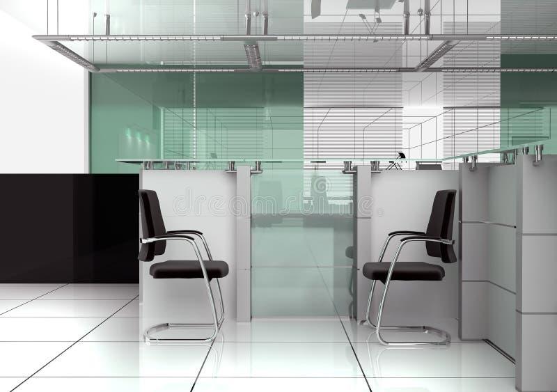 Recepción en oficina moderna ilustración del vector