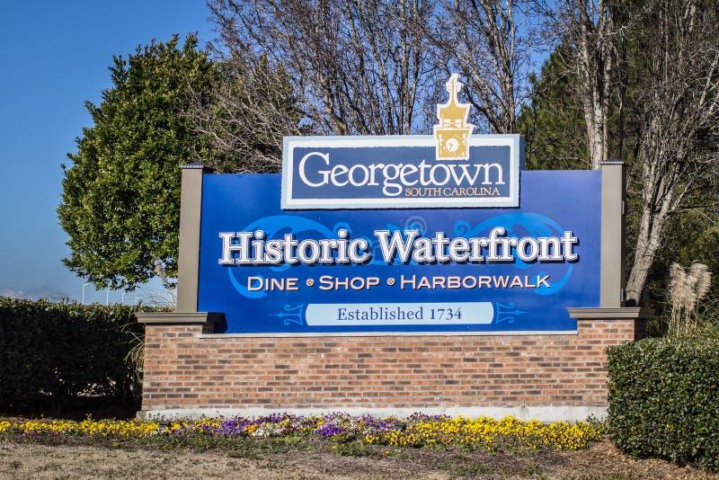 Recepción a Georgetown histórica fotografía de archivo libre de regalías