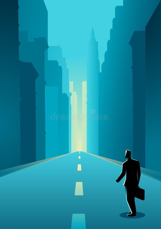 Recepción a la ciudad grande libre illustration