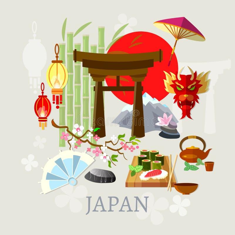 Recepción a la cultura del japonés de Japón libre illustration