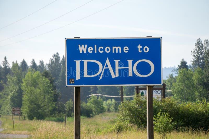 Recepción a la muestra de la carretera estatal de Idaho fotografía de archivo
