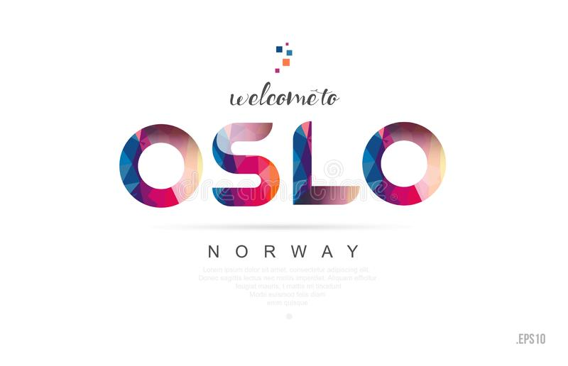 Recepción a la tarjeta de Oslo Noruega y al icono de la tipografía del diseño de letra libre illustration