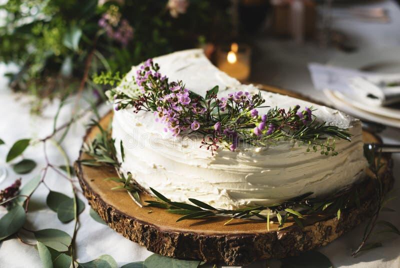 Recepción nupcial deliciosa del evento de la panadería del postre de las tortas fotos de archivo