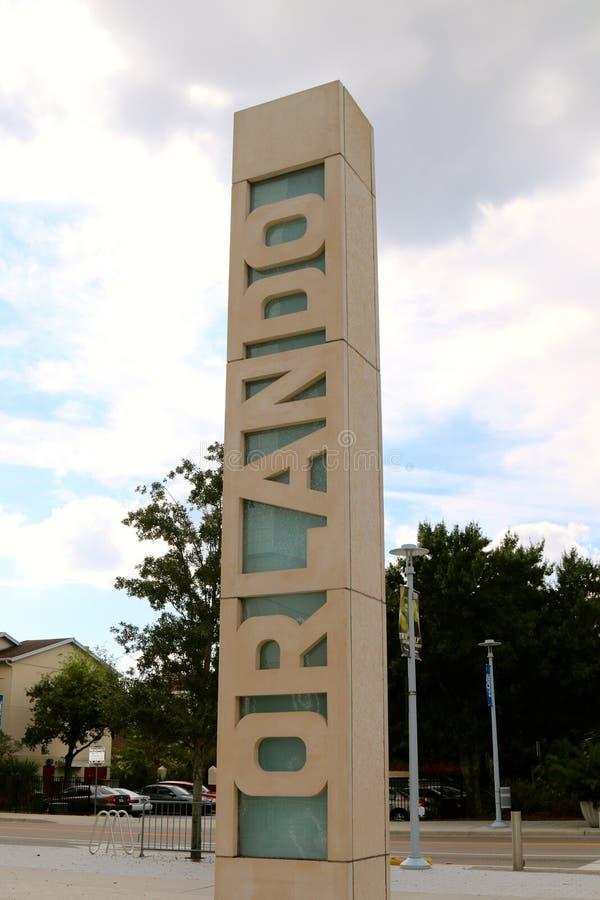 Recepción a Orlando Sign fotos de archivo libres de regalías