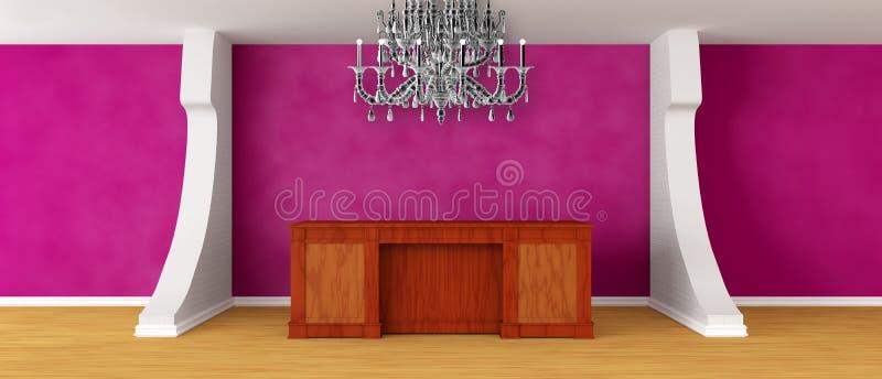 Recepción púrpura moderna ilustración del vector