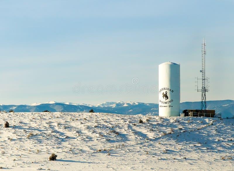 Recepción a Sheridan, Wyoming imagen de archivo