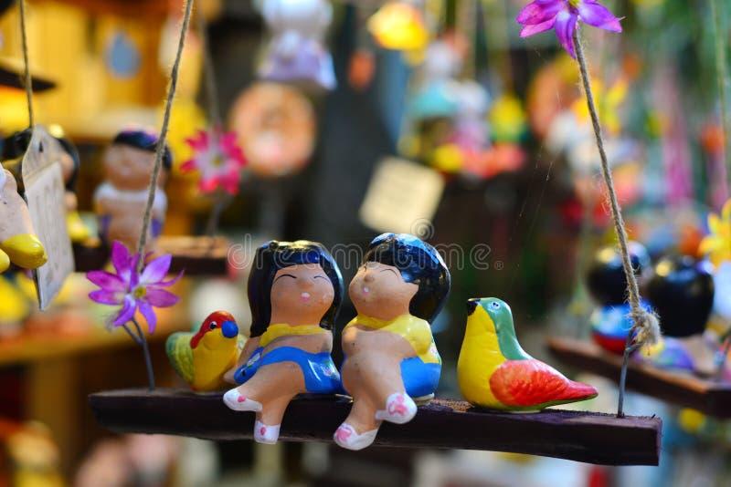 Recepción tradicional de la cerámica, Tailandia imagen de archivo libre de regalías