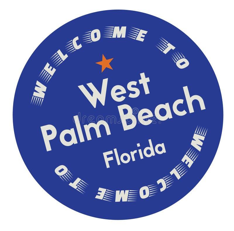 Recepción a West Palm Beach la Florida ilustración del vector