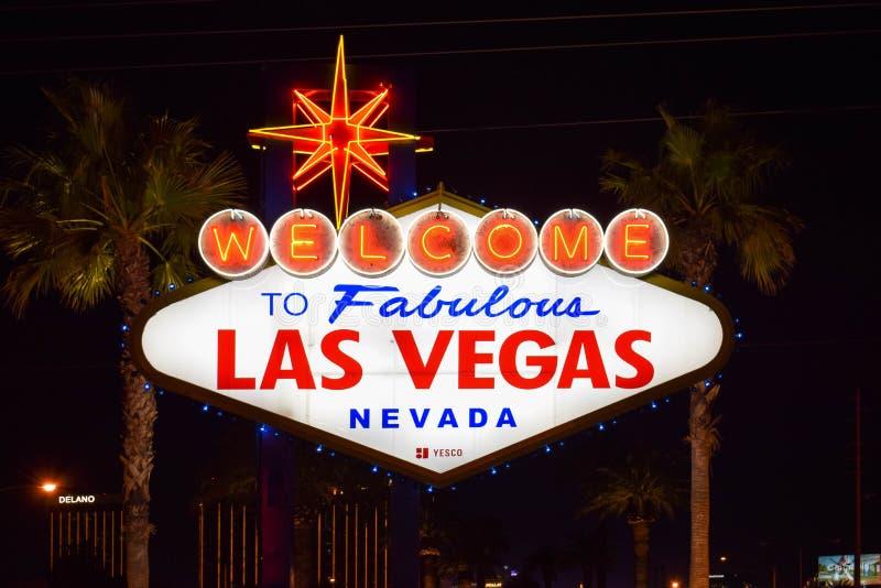 Recepci?n a Las Vegas fabuloso Nevada Sign imagen de archivo libre de regalías
