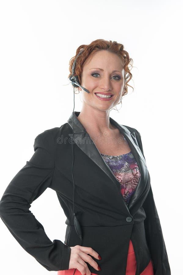 Recepcionista Customer Service imagem de stock