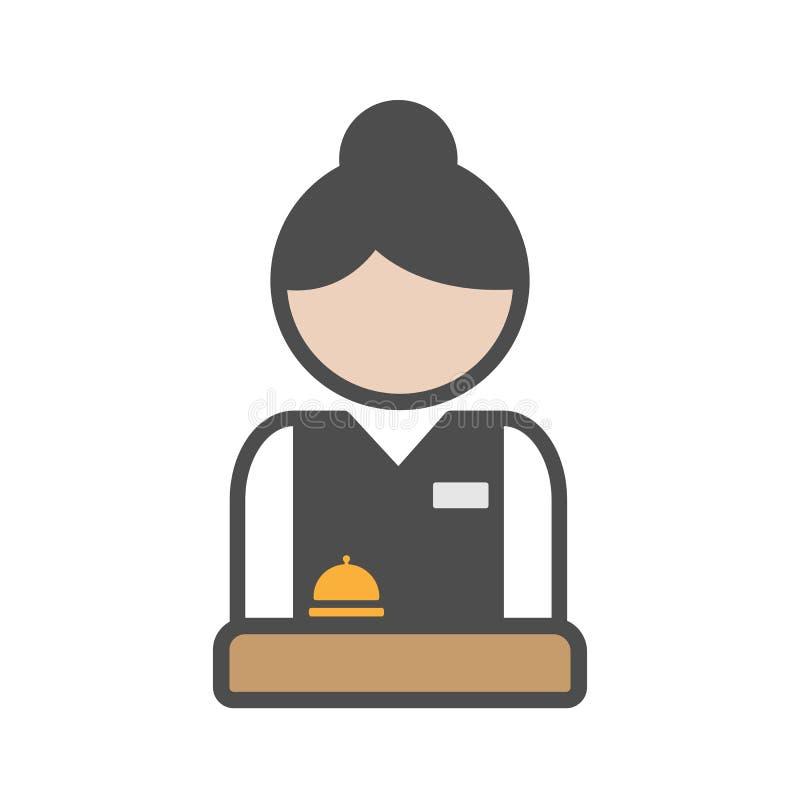 Recepcionista do hotel com uniforme ilustração do vetor