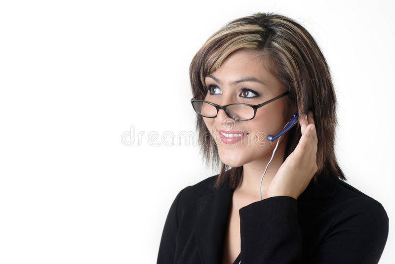 recepcjonistka urocze dołeczki zdjęcia stock