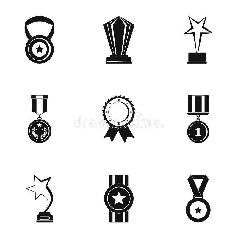 Recepcyjne ikony ustawiać, prosty styl ilustracji