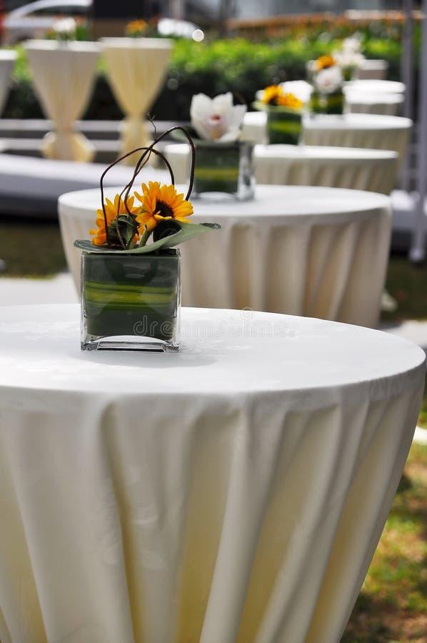 recepcyjni stoły zdjęcia stock