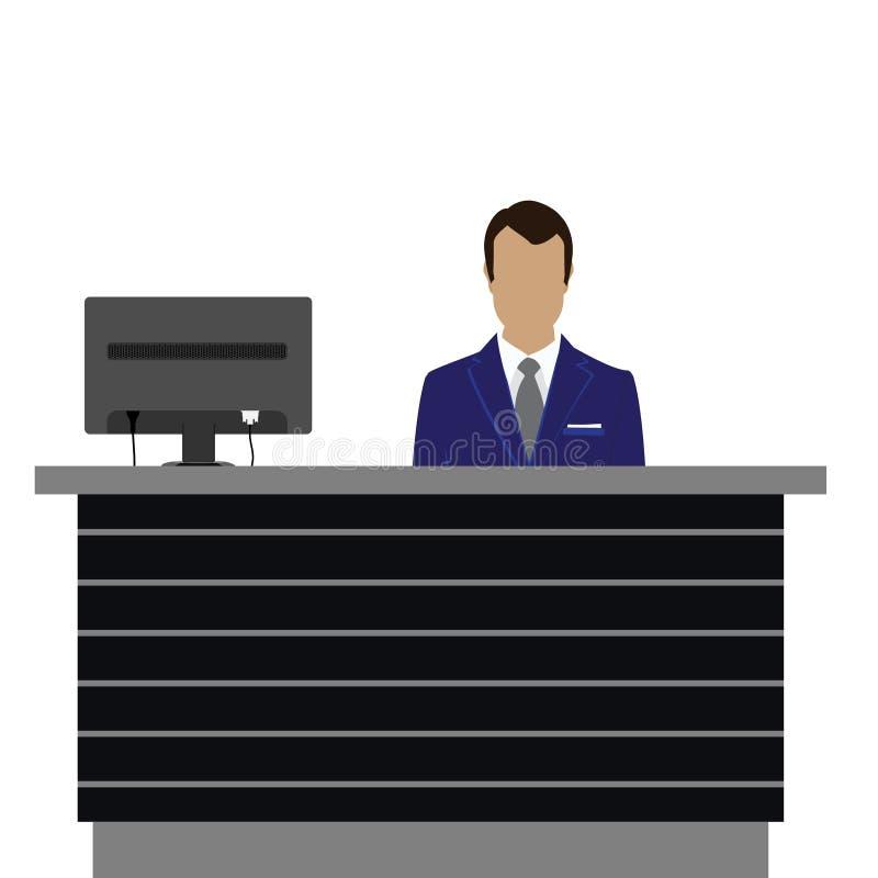 Recepcyjny biurko royalty ilustracja
