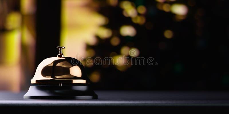 Recepcyjny dzwonkowy złoty royalty ilustracja