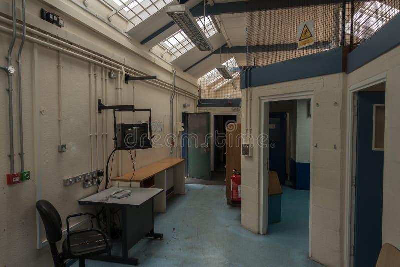 Recepcyjny teren w HMP Shrewsbury więzieniu Dana zdjęcie stock