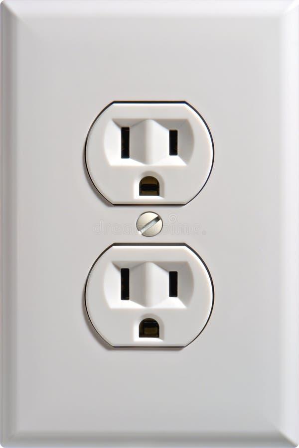 Receptáculo elétrico da tomada de parede fotografia de stock