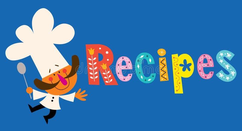 recept stock illustrationer