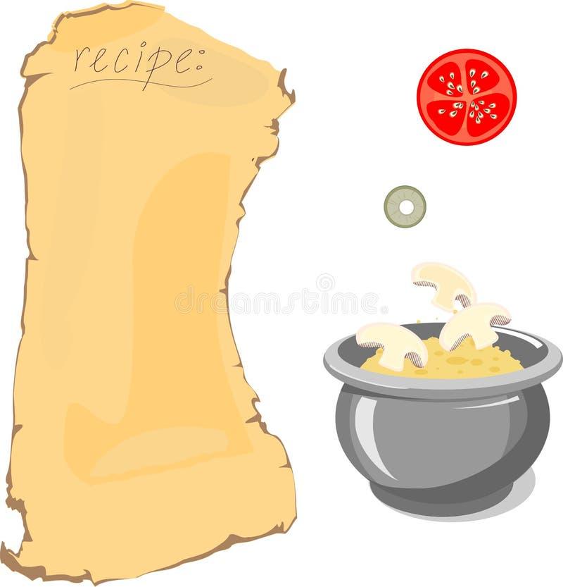 Recept en ingrediënten vector illustratie