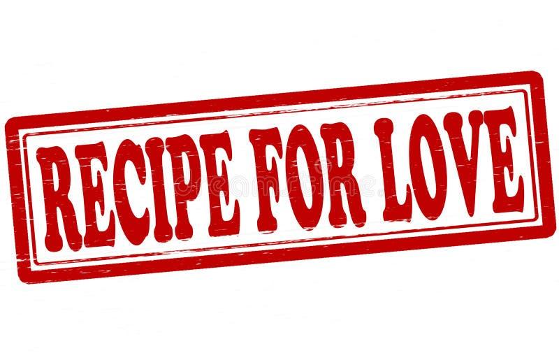 Recept för förälskelse royaltyfri illustrationer