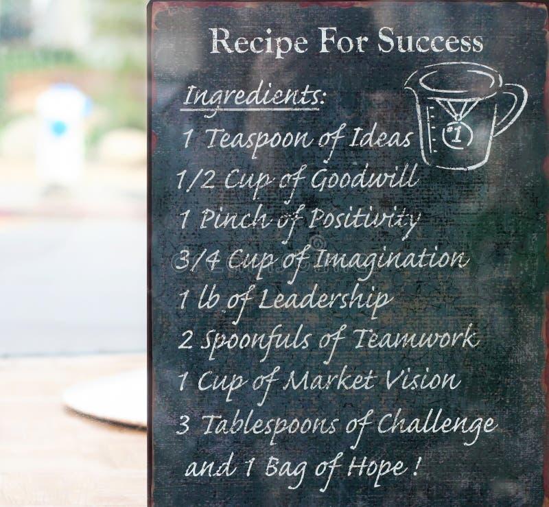 Recept voor Succes royalty-vrije stock afbeeldingen