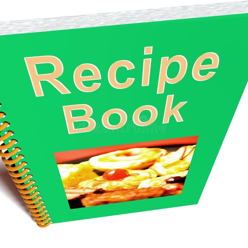 Receptenboek voor het Koken of het Voorbereiden van Voedsel stock illustratie