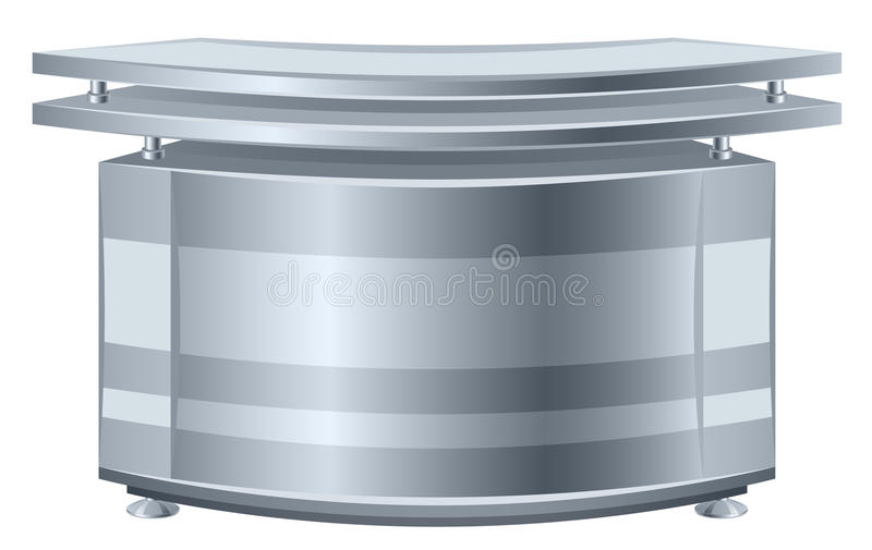 Reception. Table on a white background stock illustration