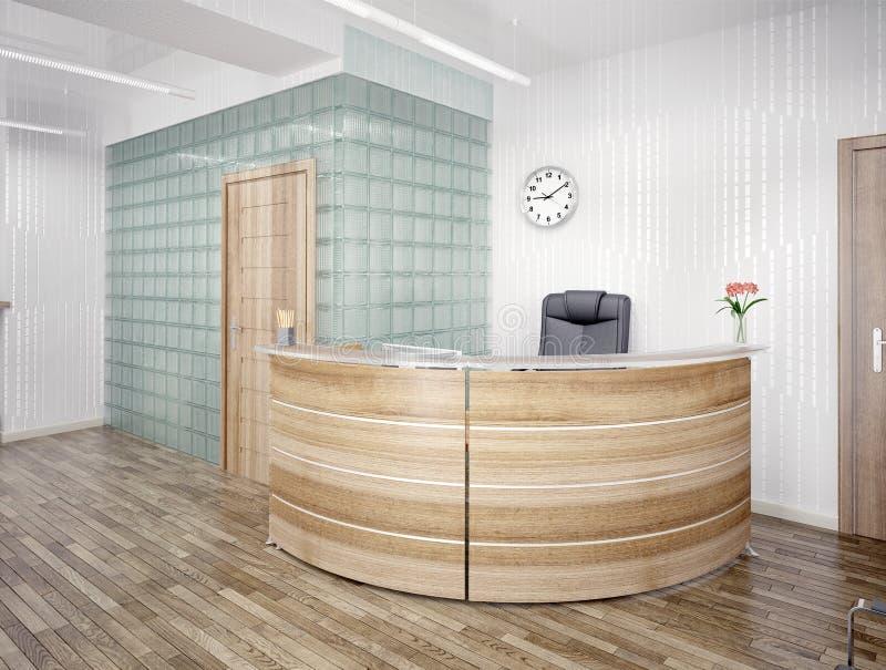 Reception area. A reception area - modern interior royalty free illustration