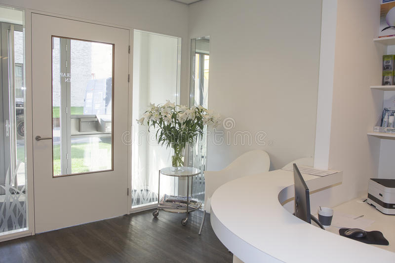 Reception area at clinic royalty free stock photography