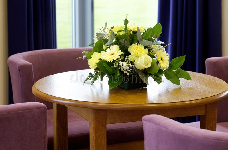 Funeral directors reception area stock images