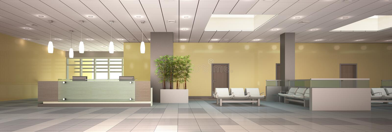 Reception area. royalty free illustration