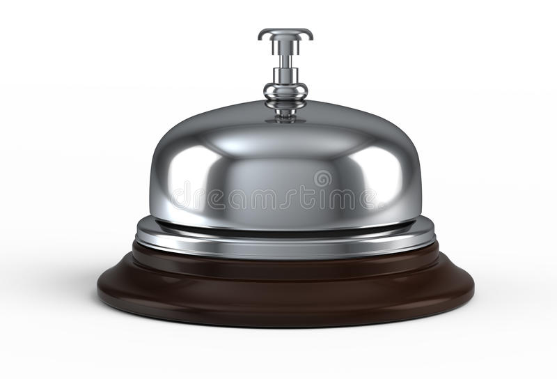 Reception bell. Isolated on white stock illustration