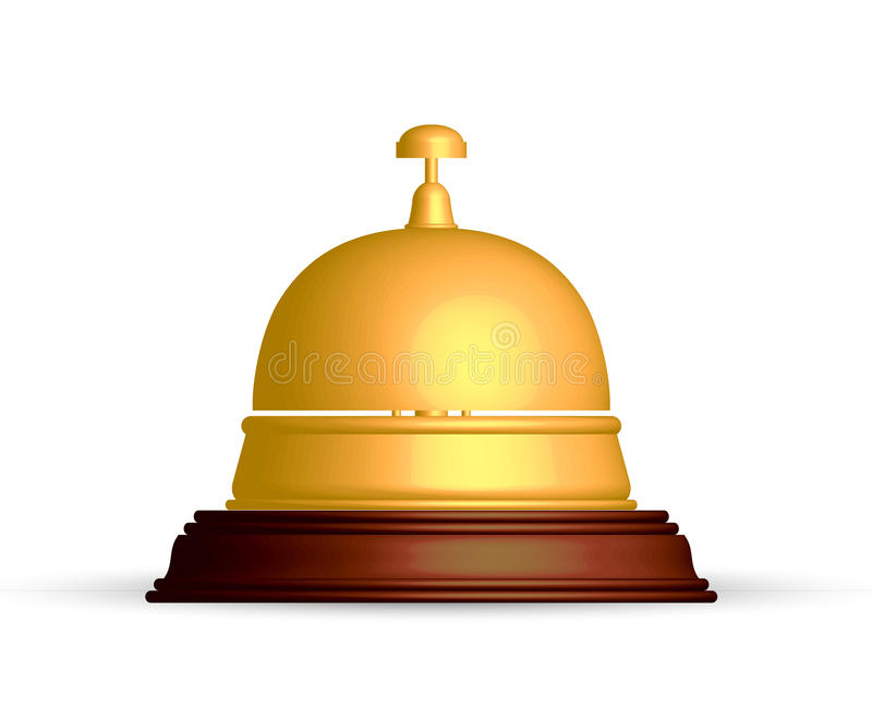 Download Reception bell stock vector. Image of device, call, hall - 26221636