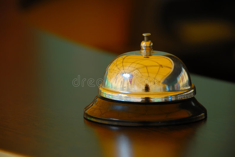 Reception bell stock images