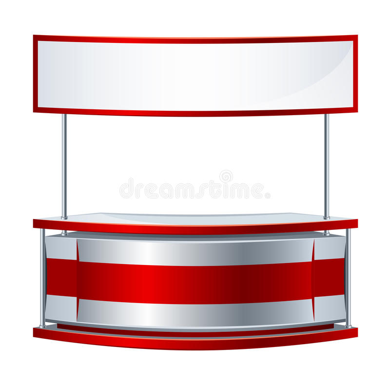 Reception counter. On a white background stock illustration